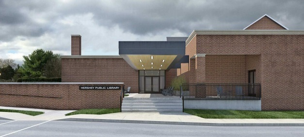 Artistic rendering of the family entrance.